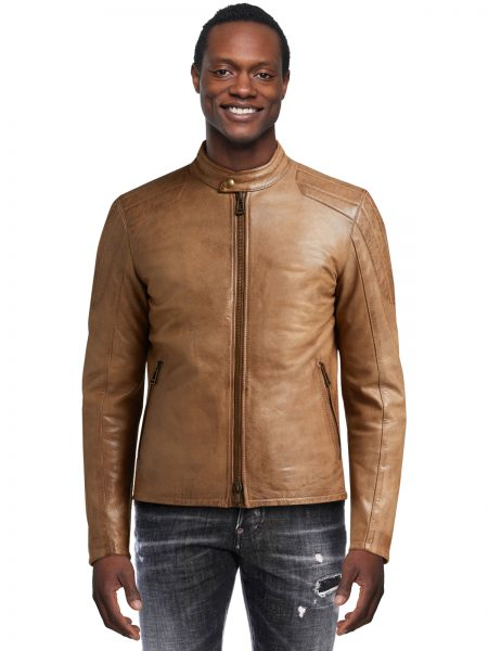 Hand Waxed Leather Brown Jacket