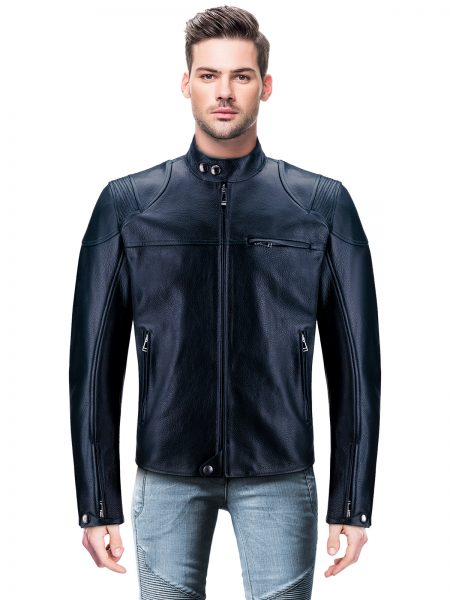 Belstaff Style Motorcycle Leather Jacket