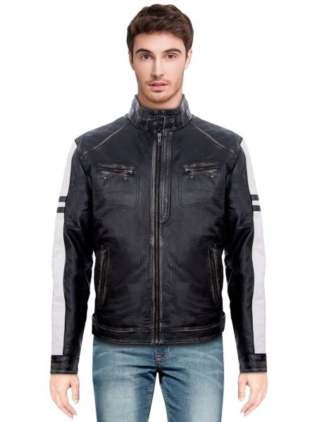 Men's Vintage Biker Racing Quilted Jacket