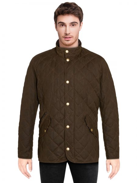 brown-waxed-quilted-neck-jacket