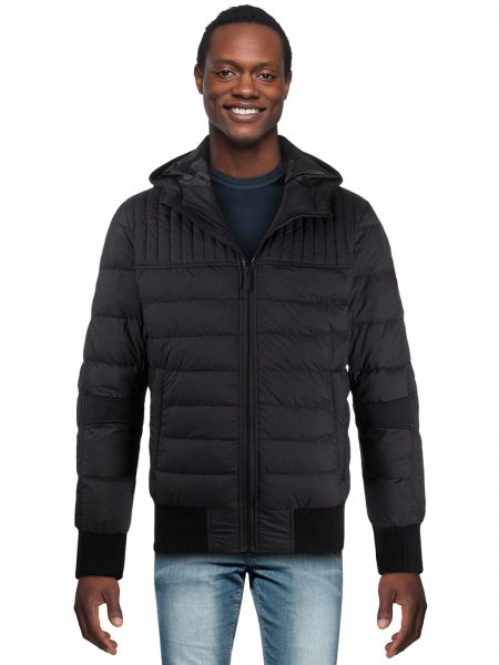 Long Sleeve Fitted Puffer Black Jacket