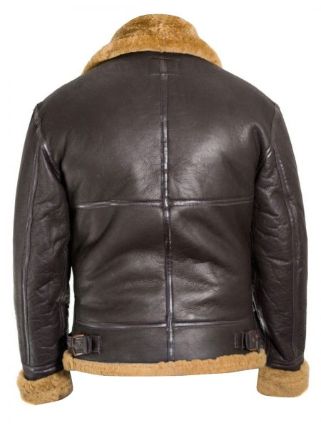 Shearling bomber RAF jacket for men