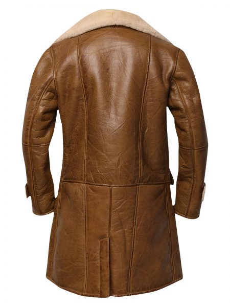 Men Brown Shearling Leather Coat